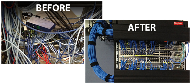 Wiring at IPERS before and after