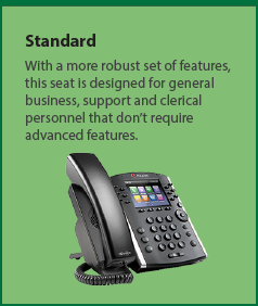 Standard: With a more robust set of features, this seat is designed for general business, support and clerical personnel.