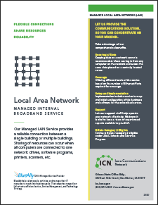 cover of Managed Local Area Network flyer