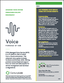 cover of Managed Voice Service flyer