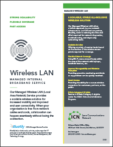 cover of Managed Wireless LAN flyer
