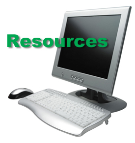computer image with the word Resources over it