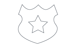 Public Saftey Icon: officer badge