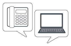Phone and Laptop Icon