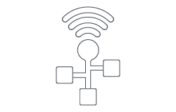 Network and Wi-fi Data Icon
