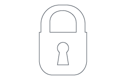 Security padlock icon